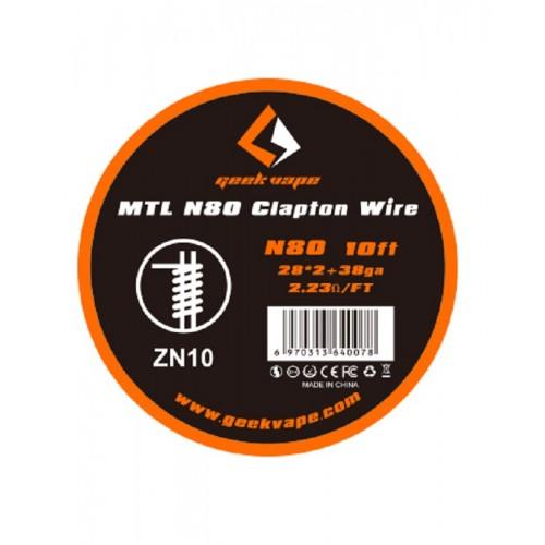 Geekvape MTL N80 CLAPTON WIRE 10ft  28*2+38GA ZN10