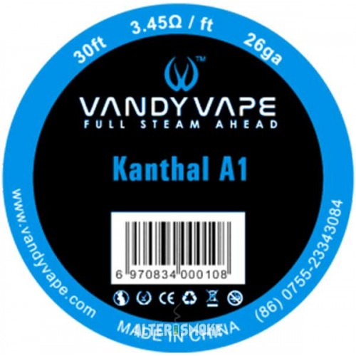 Vandy vape Kanthal A1 26ga 3.45Ω/ft 30ft