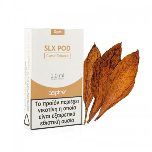 Aspire SLX Pod Classic Tobacco 2ml 20mg x 3 τμχ