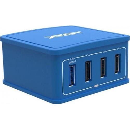 XTAR 27W 4-Port USB Φορτιστής Μπλέ